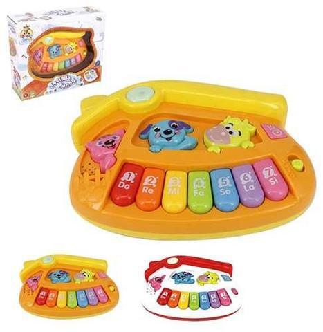 Imagem de Teclado Piano Musical Infantil Baby Casinha Colors Com Luz A Pilha Na Caixa Wellkids