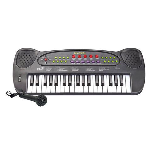 Imagem de Teclado Piano Musical Infantil Eletrônico Com Microfone