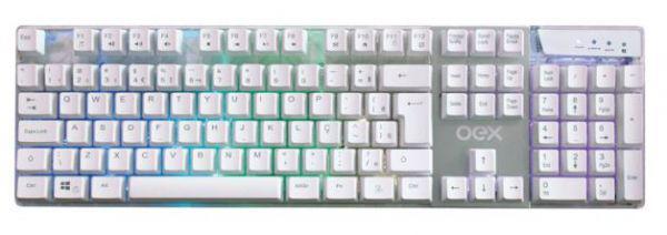 Imagem de Teclado Prismatic Branco TC205 USB Com Led Gamer - OEX