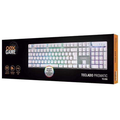 Imagem de Teclado Prismatic Branco Tc205 USB Com Led Oex Gamer