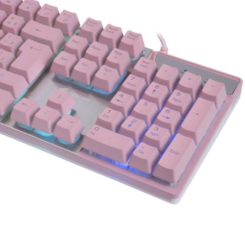 Imagem de Teclado Prismatic ROSA  USB Com Led Oex Gamer