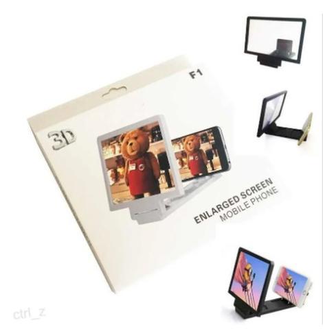 Imagem de Tela De Aumento 3d Suporte Ampliadora Smartphone F1