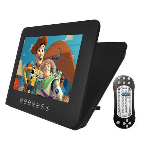 Imagem de Tela LCD Portátil para Encosto de Cabeça Kx3 9 Pol Dvd Usb Sd com Controle Multifuncional