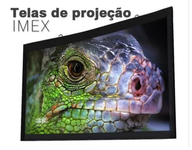 Imagem de Tela Projeção 100 polegadas Widescreen 16:9 2,21m X 1,25m Projetor vídeo Hd
