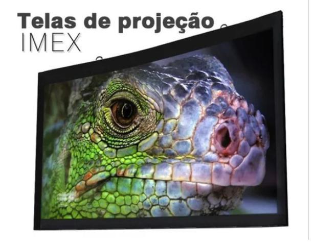 Imagem de Tela Projeção Mapa 80 Polegadas Ultra Hd Projetor Data Show video