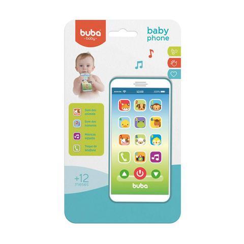 Imagem de Telefone Bebê Celular Musical Azul - Buba Baby