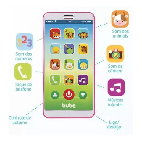 Imagem de Telefone Bebê Celular Musical Rosa - Buba Baby