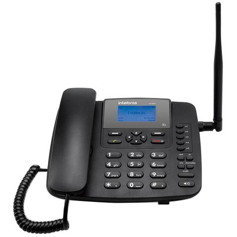 Imagem de Telefone Celular Intelbras Rural Fixo CF6031, Preto, 3G, Função Modem 3G