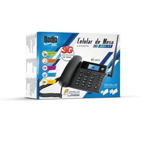 Imagem de Telefone Celular Rural de Mesa Bedin Sat BDF-11 3G com Rádio FM