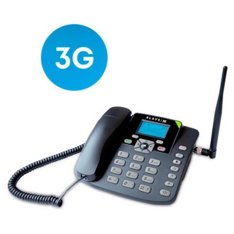Imagem de Telefone celular rural de mesa elsys 3g para 1 chip com fm relogio alarme calculadora epfg11