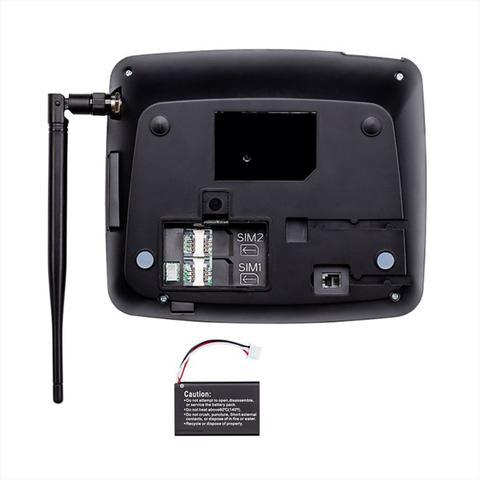 Imagem de Telefone Celular Rural Fixo Intelbras 4114202 CF 4202 Preto