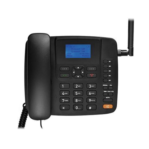 Imagem de Telefone Celular Rural Fixo Multilaser RE504, Quadriband 3G - Preto