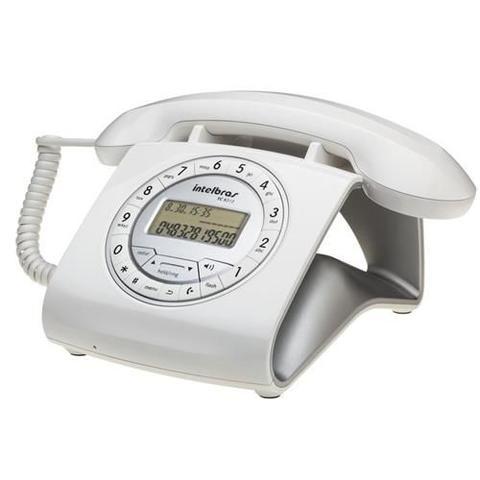Imagem de Telefone com Fio Intelbras Retrô Branco com Identificador de Chamadas - TC8312