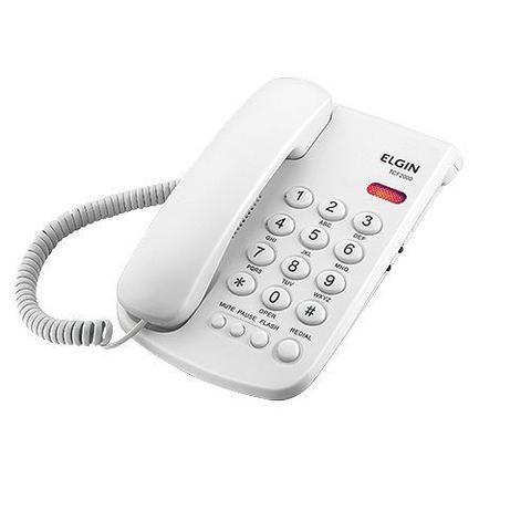 Imagem de Telefone com Fio TCF-2000 B Chave de Bloqueio Indicacao Luminosa de Chamada Branco ELGIN