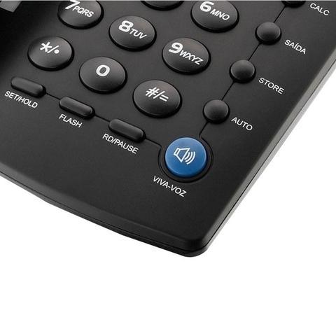 Imagem de Telefone De Mesa Com Fio Elgin TCF3000 C/ Identificador Preto