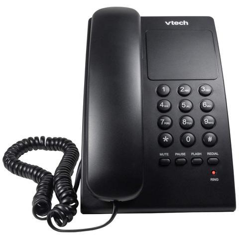 Imagem de Telefone de Mesa e Parede Digital com Fio VTC105B Vtech Preto