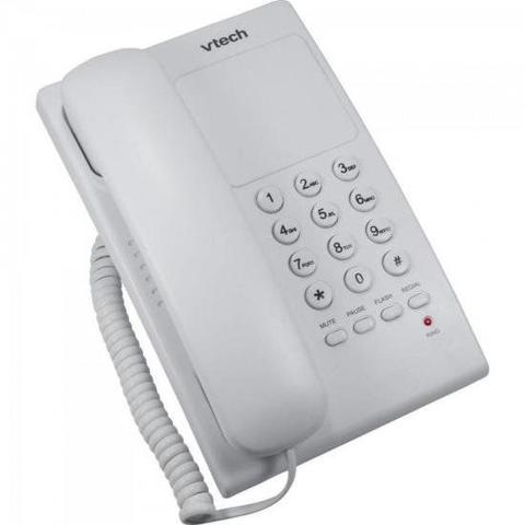 Imagem de Telefone Digital de Mesa C/ Fio VTC105W Branco VTECH