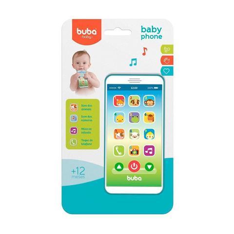Imagem de Telefone Infantil Baby Phone Azul Buba - 6841