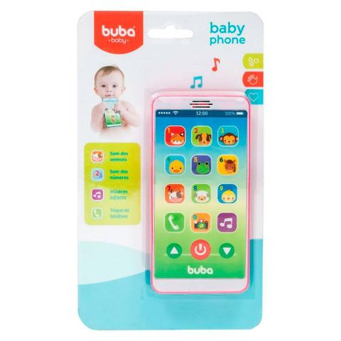 Imagem de Telefone Infantil Baby Phone Rosa Buba - 6842