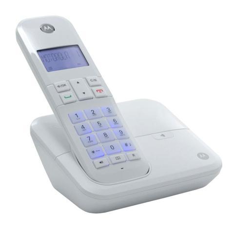 Imagem de Telefone Motorola MOTO 4000 S/Fio C/Identificador + Viva Voz Branco