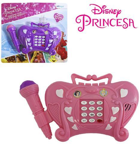 Imagem de Telefone musical infantil princesas colors a pilha na cartela