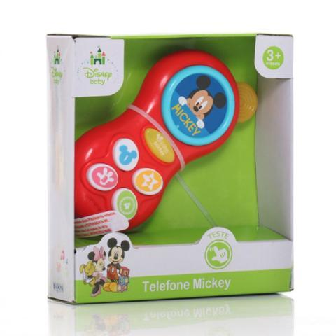Imagem de Telefone Para Bebê Mickey Musical Disney Baby Dican