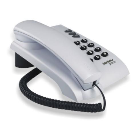 Imagem de Telefone pleno sem chave com fio cinza intelbras