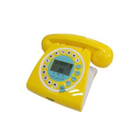 Imagem de Telefone Retrô Vintage Amarelo TM 8227A Com Identificador Cor Amarelo