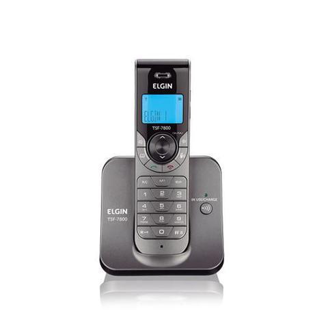Imagem de Telefone sem Fio com Identificador de Chamada Grafite Elgin TSF 7800 ID