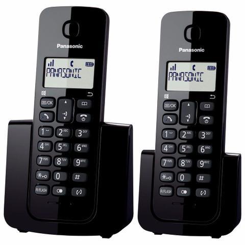 Imagem de Telefone Sem Fio Com Identificador de Chamadas + 1 Ramal Panasonic DECT 6.0 Preto - KX-TGB112LBB