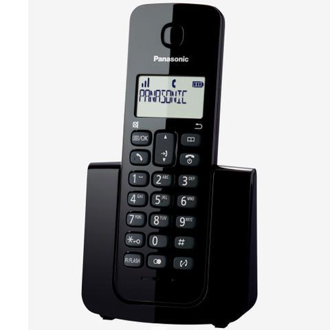 Imagem de Telefone Sem Fio Com Identificador de Chamadas Panasonic DECT 6.0 Preto - KX-TGB110LBB