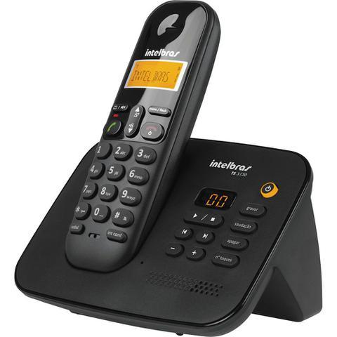Imagem de Telefone sem Fio com Identificador e Secretária Intelbras TS3130 Preto