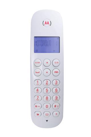 Imagem de Telefone sem Fio com Identificador Motorola MOTO700ID Vermelho