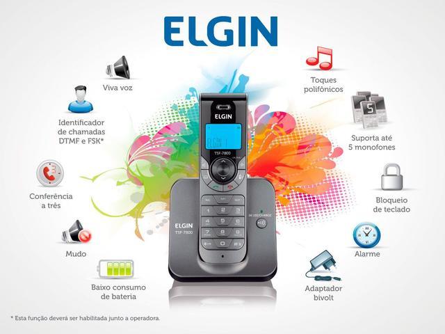 Imagem de Telefone Sem Fio Elgin TSF 7800