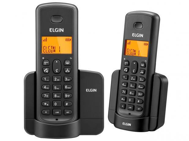 Imagem de Telefone Sem Fio Elgin TSF8002 + 1 Ramal - Identificador de Chamada Viva Voz Preto