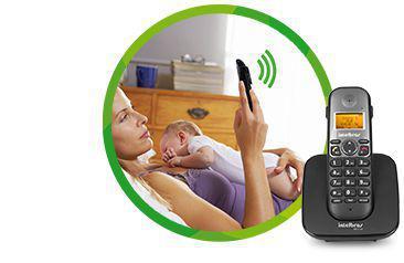 Imagem de Telefone Sem Fio Intelbras Com Ramal Externo Tis 5010 - Preto