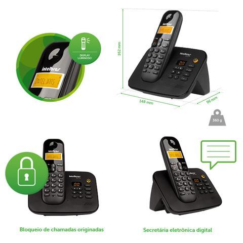 Imagem de Telefone sem fio Intelbras TS 3130 Preto  C/ Identificador de Chamadas/Bloqueio de Chamadas/Secretária Eletrônica