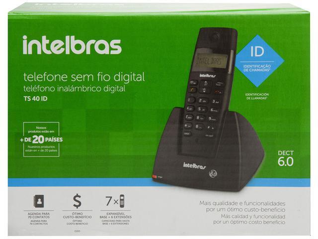 Imagem de Telefone Sem Fio Intelbras TS 40 ID