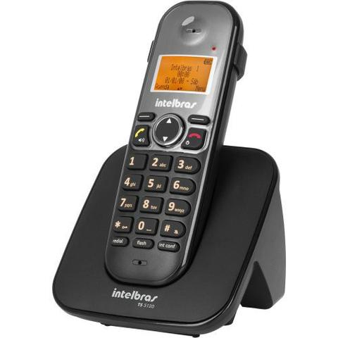 Imagem de Telefone Sem Fio Intelbras TS 5120 - Identificador de Chamada Viva Voz Conferência