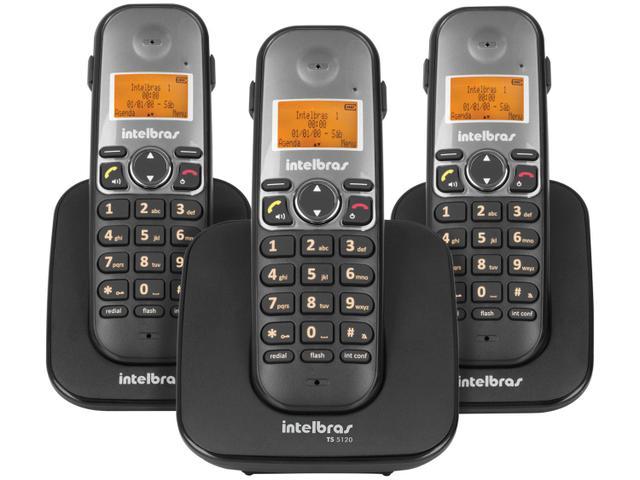 Imagem de Telefone Sem Fio Intelbras TS 5123 + 2 Ramais