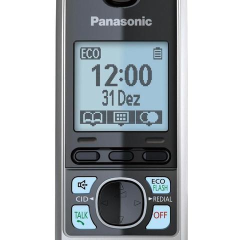 Imagem de Telefone sem Fio KX-TG6713LBB Preto ID. Chamadas, Viva - Voz + 2 Ramais - Panasonic