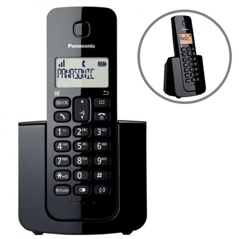Imagem de Telefone sem fio kx-tgb110lbb c/ identificador panasonic preto