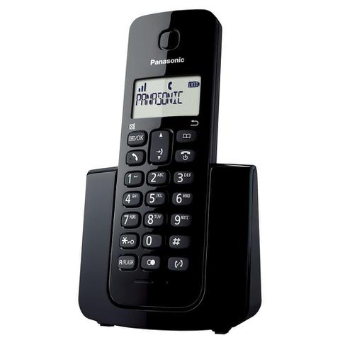 Imagem de Telefone sem Fio KX-TGB110LBB Preto com Identificador de Chamadas - Panasonic