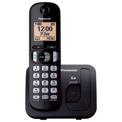 Imagem de Telefone sem Fio KX-TGC210LBB Preto Dect 6.0, Viva-Voz - Panasonic