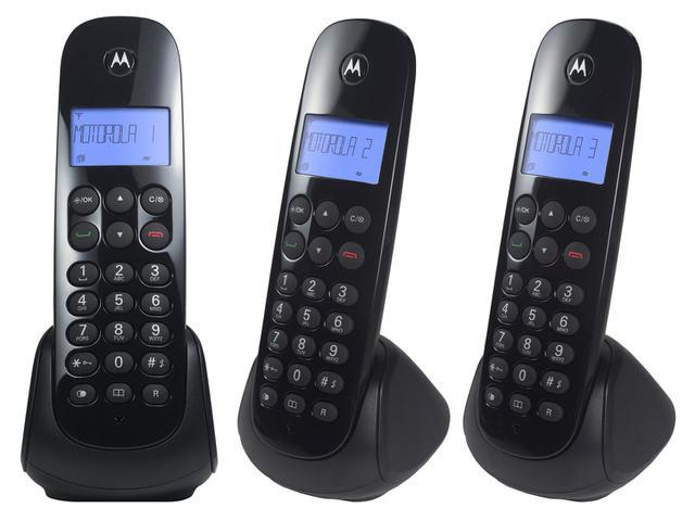 Imagem de Telefone Sem Fio Motorola MOTO700-MRD3 + 2 Ramais