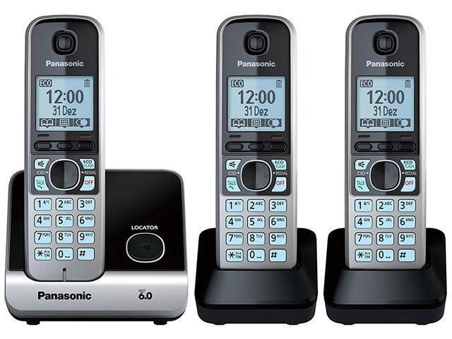 Imagem de Telefone Sem Fio Panasonic KX-TG6713LBB + 2 Ramais