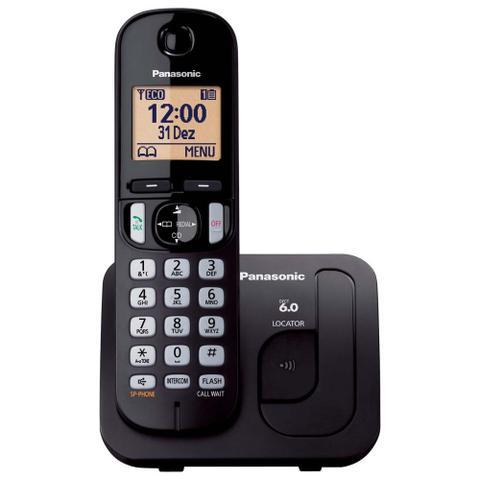 Imagem de Telefone Sem Fio Panasonic Kx-Tgc210lbb Preto Dect 6.0, Viva Voz