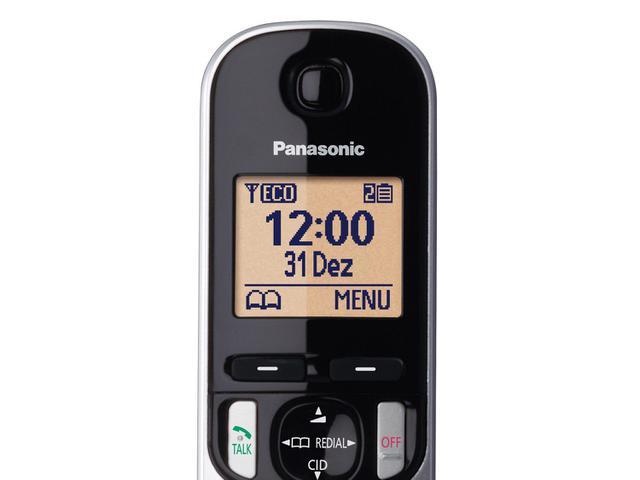 Imagem de Telefone Sem Fio Panasonic KX-TGC212LB1 + 1 Ramal