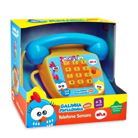 Imagem de Telefone sonoro galinha pintadinha mini - elka brinquedos