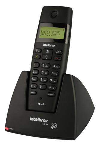 Imagem de Telefones sem fio intelbras icon 4070350 ts 40 id preto dect 6.0